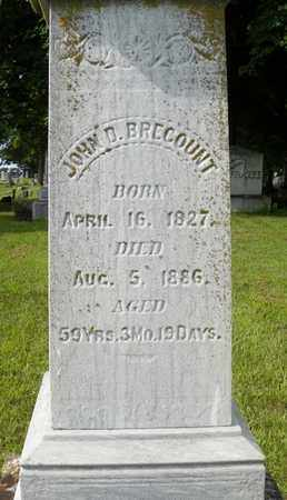 BRECOUNT, JOHN D. - Miami County, Ohio | JOHN D. BRECOUNT - Ohio Gravestone Photos