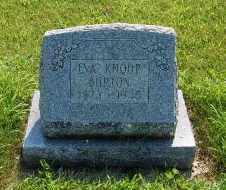 BURTON, EVA - Miami County, Ohio | EVA BURTON - Ohio Gravestone Photos