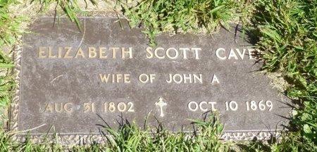 SCOTT CAVEN, ELIZABETH - Miami County, Ohio | ELIZABETH SCOTT CAVEN - Ohio Gravestone Photos