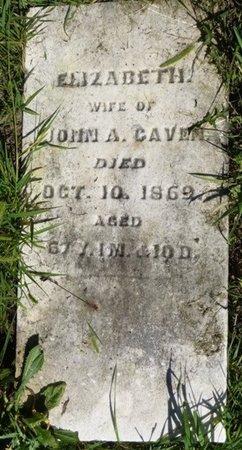 CAVEN, ELIZABETH - Miami County, Ohio   ELIZABETH CAVEN - Ohio Gravestone Photos