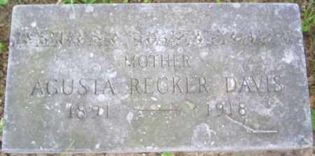 RECKER DAVIS, AUGUSTA - Miami County, Ohio | AUGUSTA RECKER DAVIS - Ohio Gravestone Photos