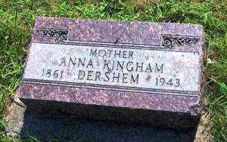 KINGHAM DERSHEM, ANNA - Miami County, Ohio | ANNA KINGHAM DERSHEM - Ohio Gravestone Photos