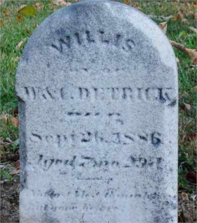 DETRICK, WILLIS - Miami County, Ohio   WILLIS DETRICK - Ohio Gravestone Photos