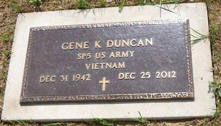 DUNCAN, GENE K - Miami County, Ohio   GENE K DUNCAN - Ohio Gravestone Photos