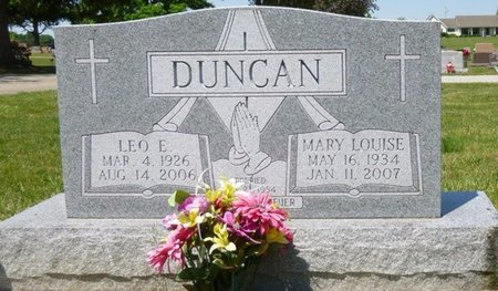 DUNCAN, MARY LOUISE - Miami County, Ohio | MARY LOUISE DUNCAN - Ohio Gravestone Photos