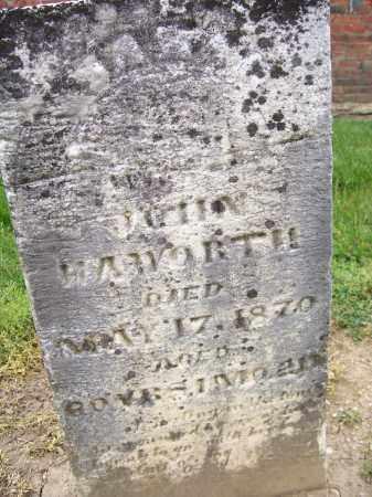 HAWORTH, SARAH - Miami County, Ohio | SARAH HAWORTH - Ohio Gravestone Photos