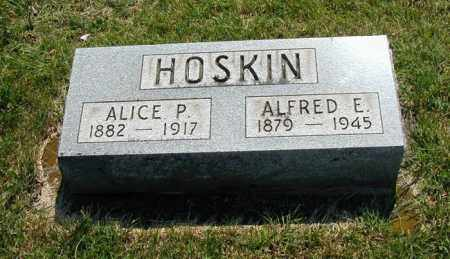 HOSKIN, ALICE - Miami County, Ohio | ALICE HOSKIN - Ohio Gravestone Photos