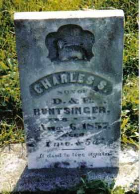 HUNTSINGER, CHARLES S. - Miami County, Ohio   CHARLES S. HUNTSINGER - Ohio Gravestone Photos