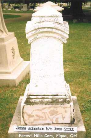 JOHNSTON, JAMES - Miami County, Ohio | JAMES JOHNSTON - Ohio Gravestone Photos