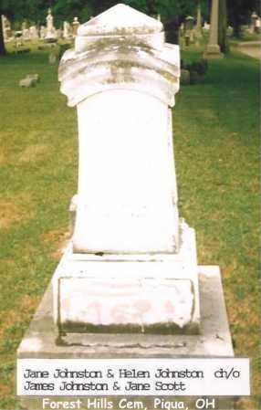 JOHNSTON, JANE - Miami County, Ohio | JANE JOHNSTON - Ohio Gravestone Photos