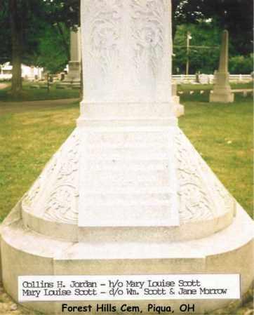 JORDAN, COLLINS - Miami County, Ohio | COLLINS JORDAN - Ohio Gravestone Photos