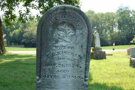 KINGHAM, REBECCA - Miami County, Ohio | REBECCA KINGHAM - Ohio Gravestone Photos