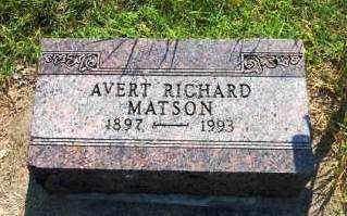 MATSON, AVERT RICHARD - Miami County, Ohio | AVERT RICHARD MATSON - Ohio Gravestone Photos