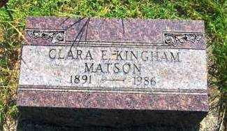 KINGHAM MATSON, CLARA - Miami County, Ohio | CLARA KINGHAM MATSON - Ohio Gravestone Photos