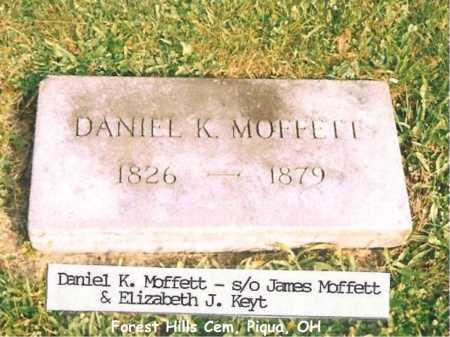 MOFFETT, DANIEL K - Miami County, Ohio | DANIEL K MOFFETT - Ohio Gravestone Photos