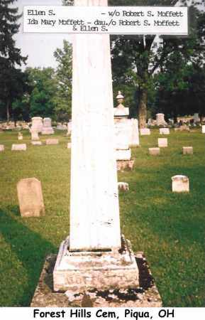 MOFFETT, ELLEN - Miami County, Ohio   ELLEN MOFFETT - Ohio Gravestone Photos