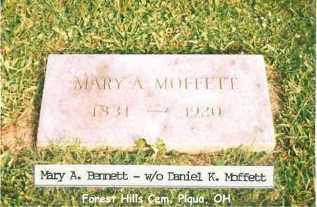 BENNETT MOFFETT, MARY - Miami County, Ohio | MARY BENNETT MOFFETT - Ohio Gravestone Photos