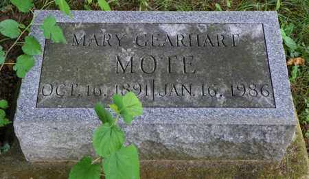 GEARHART MOTE, MARY - Miami County, Ohio | MARY GEARHART MOTE - Ohio Gravestone Photos