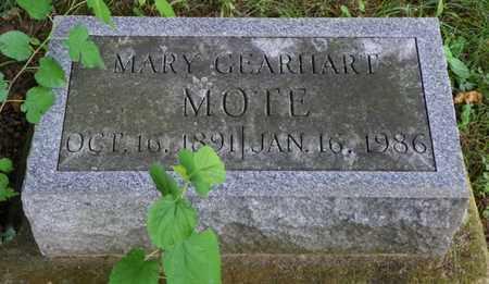 MOTE, MARY - Miami County, Ohio | MARY MOTE - Ohio Gravestone Photos