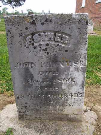 THOMPSON PENNY, ESTHER - Miami County, Ohio   ESTHER THOMPSON PENNY - Ohio Gravestone Photos