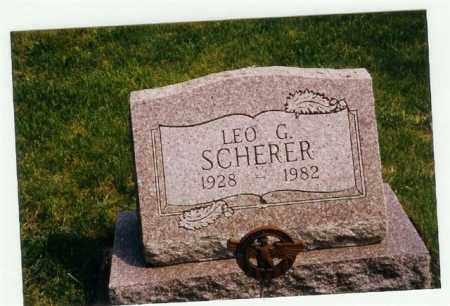 SCHERER, LEO G - Miami County, Ohio | LEO G SCHERER - Ohio Gravestone Photos