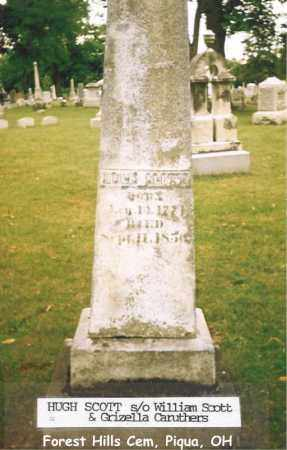 SCOTT, HUGH - Miami County, Ohio | HUGH SCOTT - Ohio Gravestone Photos