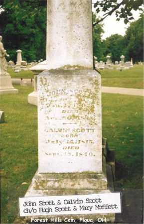 SCOTT, JOHN - Miami County, Ohio | JOHN SCOTT - Ohio Gravestone Photos