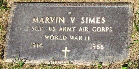 SIMES, MARVIN VINCENT - Miami County, Ohio | MARVIN VINCENT SIMES - Ohio Gravestone Photos