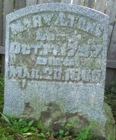 TOMS, MARY A - Miami County, Ohio | MARY A TOMS - Ohio Gravestone Photos