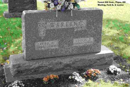 WARLING, FERDINAND - Miami County, Ohio   FERDINAND WARLING - Ohio Gravestone Photos