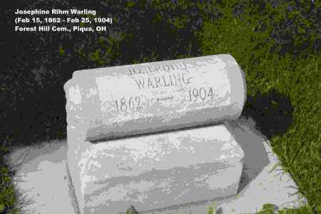 WARLING, JOSEPHINE - Miami County, Ohio | JOSEPHINE WARLING - Ohio Gravestone Photos