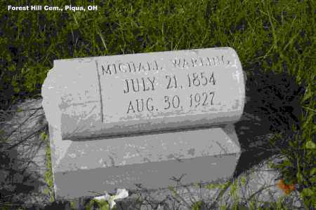 WARLING, MICHAEL JOSEPH - Miami County, Ohio   MICHAEL JOSEPH WARLING - Ohio Gravestone Photos