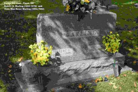 WARLING, ROBERT GEORGE - Miami County, Ohio   ROBERT GEORGE WARLING - Ohio Gravestone Photos