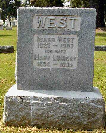 LINDSAY WEST, MARY - Miami County, Ohio | MARY LINDSAY WEST - Ohio Gravestone Photos