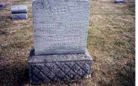 WISE, ISABEL - Miami County, Ohio | ISABEL WISE - Ohio Gravestone Photos