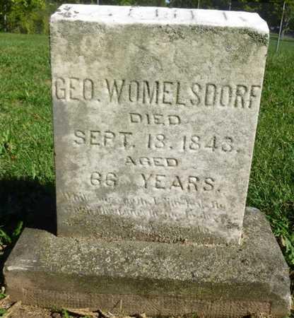 WOMELSDORF, GEORGE - Miami County, Ohio   GEORGE WOMELSDORF - Ohio Gravestone Photos