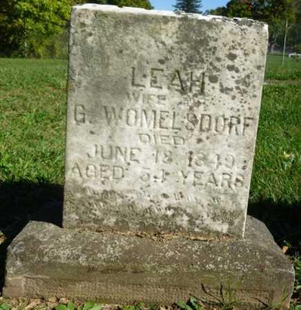 WOMELSDORF, LEAH - Miami County, Ohio | LEAH WOMELSDORF - Ohio Gravestone Photos