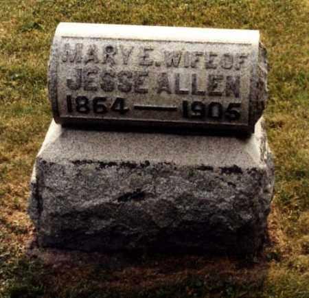 ALLEN, MARY ELLEN - Monroe County, Ohio   MARY ELLEN ALLEN - Ohio Gravestone Photos