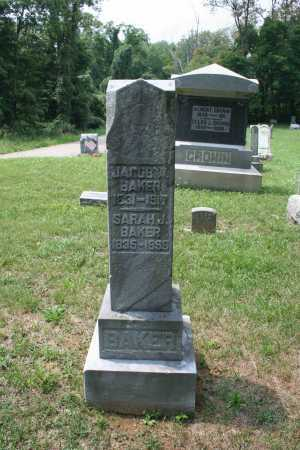 BAKER, JACOB - Monroe County, Ohio   JACOB BAKER - Ohio Gravestone Photos