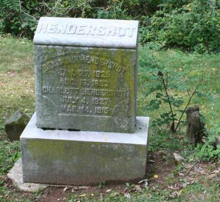 HENDERSHOT, CHARLOTTE - Monroe County, Ohio   CHARLOTTE HENDERSHOT - Ohio Gravestone Photos