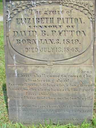 PATTON, ELIZABETH - Monroe County, Ohio | ELIZABETH PATTON - Ohio Gravestone Photos