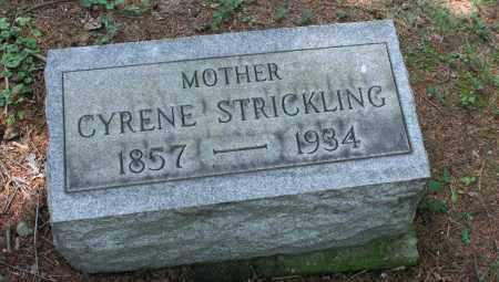 STRICKLING, MARY CYRENE - Monroe County, Ohio | MARY CYRENE STRICKLING - Ohio Gravestone Photos