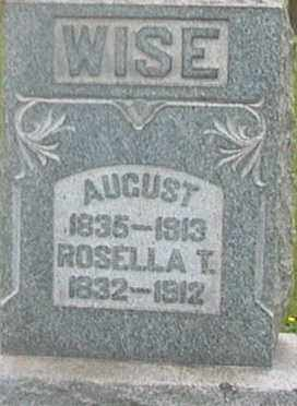 WISE, AUGUST - Monroe County, Ohio   AUGUST WISE - Ohio Gravestone Photos