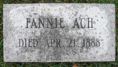 ACH, FANNIE - Montgomery County, Ohio | FANNIE ACH - Ohio Gravestone Photos