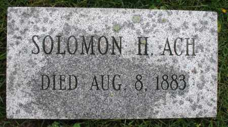 ACH, SOLOMON H. - Montgomery County, Ohio | SOLOMON H. ACH - Ohio Gravestone Photos