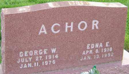 ACHOR, EDNA - Montgomery County, Ohio | EDNA ACHOR - Ohio Gravestone Photos
