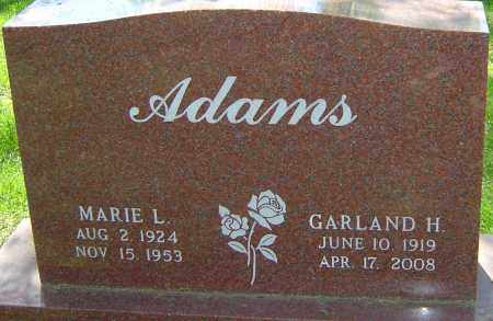 WILCHER ADAMS, MARIE - Montgomery County, Ohio   MARIE WILCHER ADAMS - Ohio Gravestone Photos
