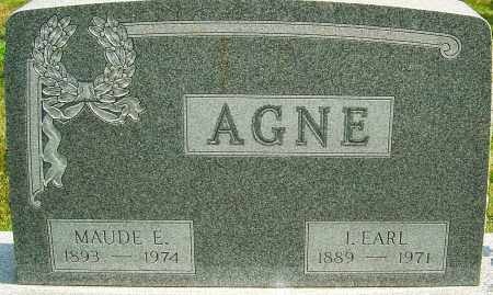 AGNE, MAUDE - Montgomery County, Ohio | MAUDE AGNE - Ohio Gravestone Photos