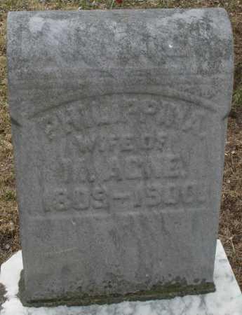 AGNE, PHILIPPINA - Montgomery County, Ohio   PHILIPPINA AGNE - Ohio Gravestone Photos