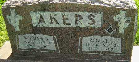 AKERS, WILLIAM J - Montgomery County, Ohio | WILLIAM J AKERS - Ohio Gravestone Photos